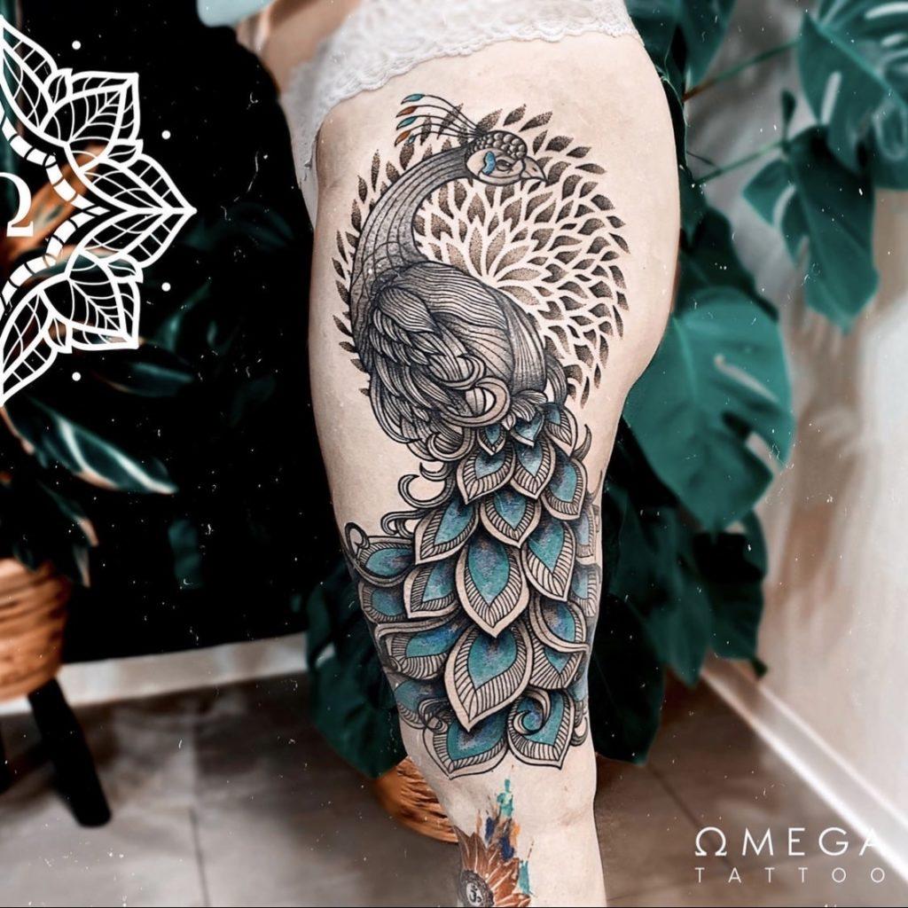 Pfau Tattoo